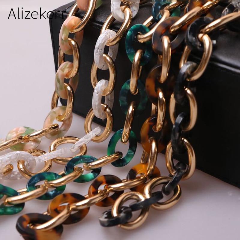 High Quality Shoulder Strap For Handbag Women Vintage Acrylic Resin Shoulder Strap Handle Acrylic Belt Chain Straps For Handbag