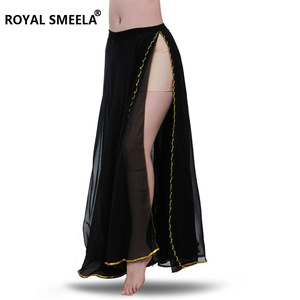 Image 5 - Hot Sale 2020 belly dancing training skirts belly dance costumes practice dress & performance sexy split belly dance skirt 6009