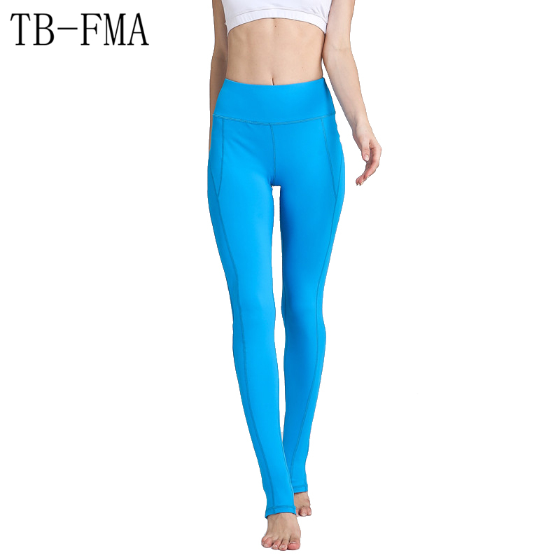 Yoga sport Pants Women Elastic band Fitness Leggings Compression Sport Tights Yoga Sportswear Athletic Sports Leggings Female