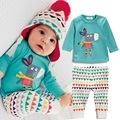 2015 Muchachas Del Niño Del Bebé Del Muchacho Camisetas de Manga Larga + Pants 2 Unids Trajes Set ropa de Dormir Pijamas