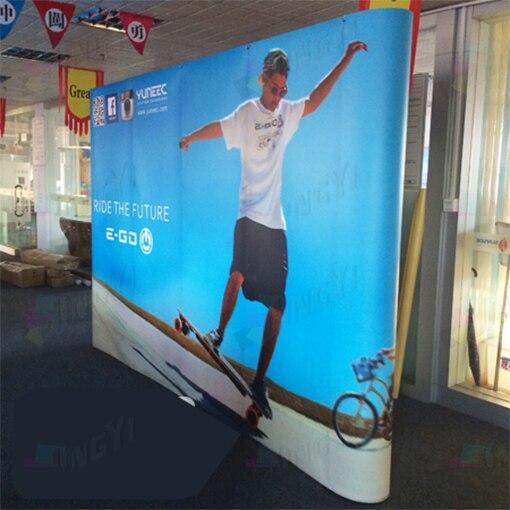 3X4(230*300 см) Магнитный выставочный стенд настенный фон, 8X10ft выставочный дисплей для торговой ярмарки фон, большой баннер
