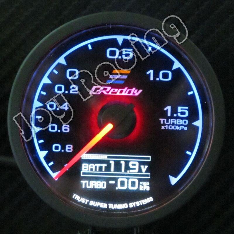 GReddi Multi D/A serie 62mm 7 colores Auto Gauge Volt agua temperatura del aceite prensa de aceite RPM vacío Turbo EGT combustible