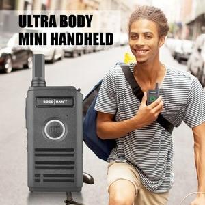 Image 4 - A Mosca palmare sottile mini walkie talkie radio portatile SC 600 Due Vie Dilettanti Comunicatore Radio UHF 400 470 MHz doppio PTT