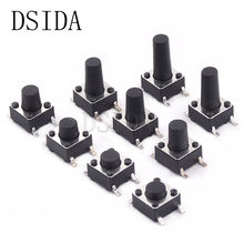 20Pcs Switch 6*6*4.3mm 4Pin SMD Tactile Tact Push Button Micro Switch 6*6*4.3mm Light Touch Keys Keyboard(China)