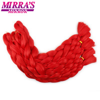 Mirra's Mirror Jumbo Braids Long Crochet Braids Synthetic Hair Pure Color Braiding Hair Extensions Pink Yellow Blue Purple