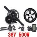 Бесплатная доставка  36В 500 Вт 8fun/bafang мотор C965 LCD BBS02B Новейший контроллер  Кривошип мотор  электрические велосипеда  набор для велосипеда