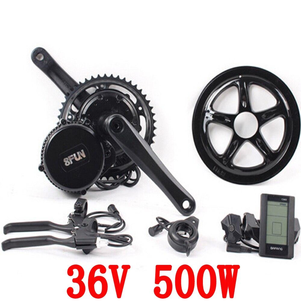 Бесплатная доставка 36 в 500 Вт 8fun/бафане двигателя C961 ЖК BBS02B последний контроллер кривошипно двигателя электро велосипеды трехколесный электро наборы