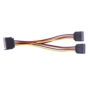 Image 2 - 20cm 15Pin SATA Male to Female 2 SATA Splitter Cable Power Adapter Cord Extension Wire Line for HDD Hard Disk Splitter Connector