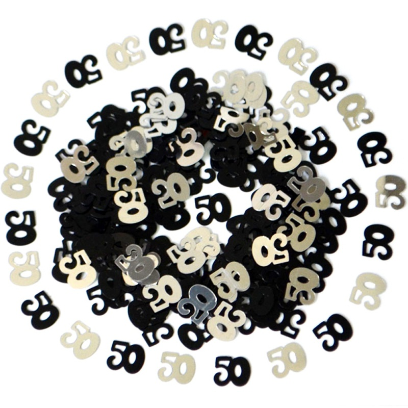 Gold Digital Figures 18 <font><b>30</b></font> 40 50 60 <font><b>Confetti</b></font> Happy Birthday Party Numbers Table Scatters Decorations Sprinkle Metallic image