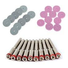 20 Pcs Dremel Accessoires 20mm Mini Boor Slijpschijf/Polijstring Pad Disc voor Rotary Tools + 10 Pcs 3.175mm Doorn