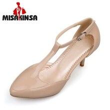 ab5220f09a Tamanho 31-46 MISAKINSA Mulheres Sandálias Cinta T Fivela sapatos de Salto  Alto Sapatos de · 4 Cores Disponíveis