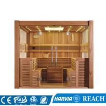 2 5 metr nowa sucha łaźnia parowa kolorowy prysznic importowany z drewna cedrowego M-6046 tanie tanio Pokoje sauny Z pawęży okna 4 osób Z litego drewna Sucha para Haisland African white wood