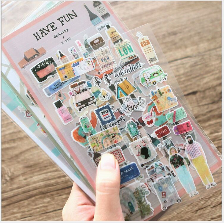 My Trip/Oxygen Kitchen/Tourist Map/fun Vacation/Amusement/Makeup Forever Art Life Sticker Decoration Planner Scrapbook Stickers