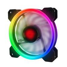 цена на Adjustable Computer Case PC Cooling Fan RGB Adjust LED 120mm Quiet + IR Remote New computer Cooler Cooling RGB Case Fan CPU