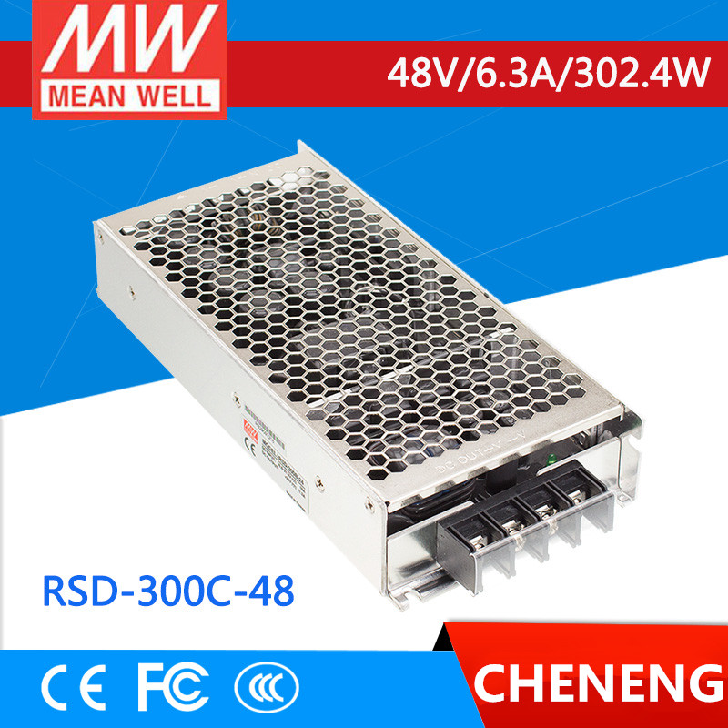 MEAN WELL original RSD-300C-48 48V 6.3A meanwell RSD-300 48V 302.4W Railway Single Output DC-DC Converter