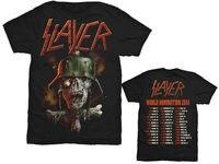 2016 New Metal Rock Men Womens Shirt SLAYER World Domination Tour 2014 High Qualit Print Summer