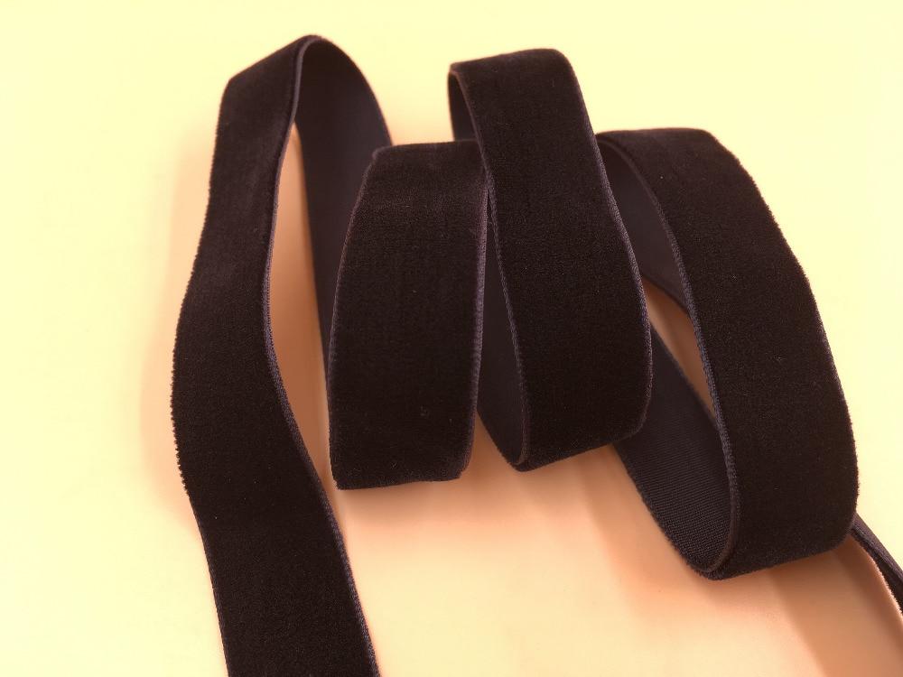 10yard/lot 5/8 15mm Black Single Face Velvet Ribbon Non Elastic Velour Webbing Headband Hair Band Accessories