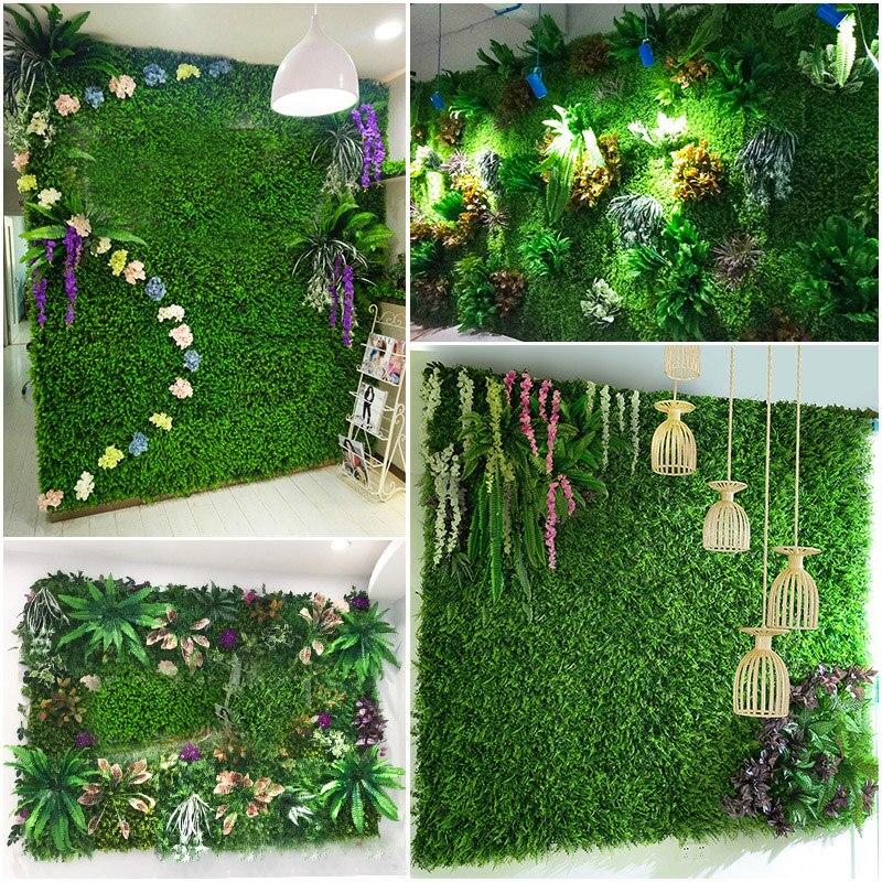 Green Plant Wall Artificial Lawn Boxwood Hedge Garden Backyard