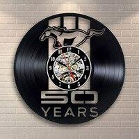 วิ่งHoresรูปร่างบันทึกซีดีนาฬิกาบันทึกไวนิลสร้างสรรค์ตกแต่งผนังศิลปะตกแต่งผนังนำนาฬิกาที่...