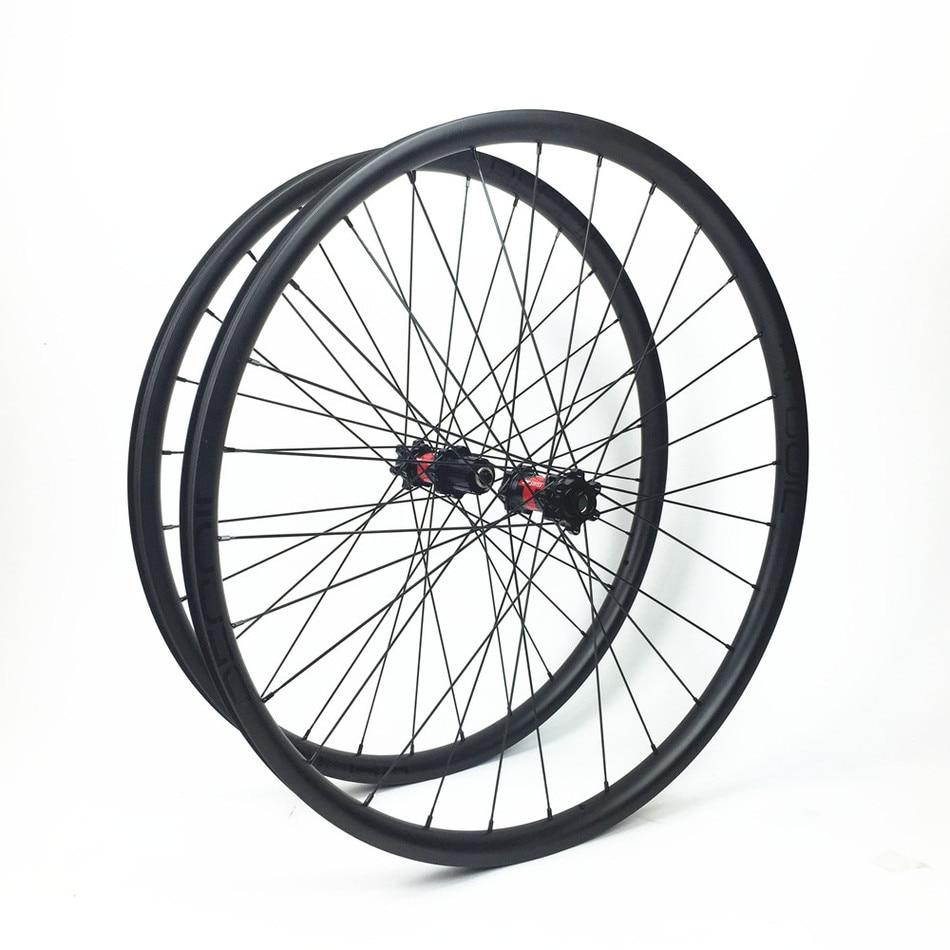 Carbon Mountain Bike 29er Wheels Bike Parts Mtb Light Carbon Rim 29er Downhill Mountain 29'' 33mm Asymmetric Novatec Wheelset