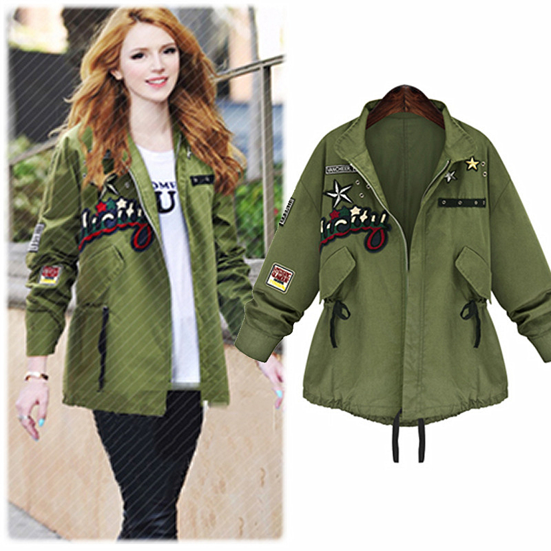 2015 cool winter jacket women autumn coat streetwear