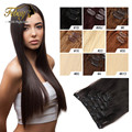 Remy Virgin Brazilian Hair Clip In Extensions 120G Clip In Brazilian Hair Extensions Natural Black Clip In Human Hair Extensions