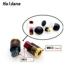 Haldane one pair MMCX Female to im01 im02 im03 im04 im50 im70 Converter Adapter free shipping haldane 1 2m earphone cable hifi headset line upgrade cable for im50 im70 im01 im02 im03 im04