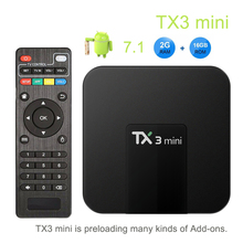 TX3 mini Android 7.1 Smart TV BOX 2GB 16GB Amlogic S905W Qua