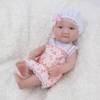 NPK DOLL Mini Reborn Baby freckle girl pink infant lovely cute handmade christmas gift lifelike 10 inch newborn child kids toys