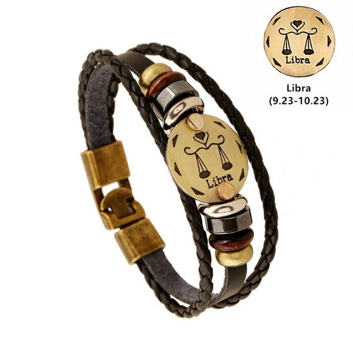 Large Genuine Leather Bangle Cuff Bracelet Homme Femme wristand Noir//Marron