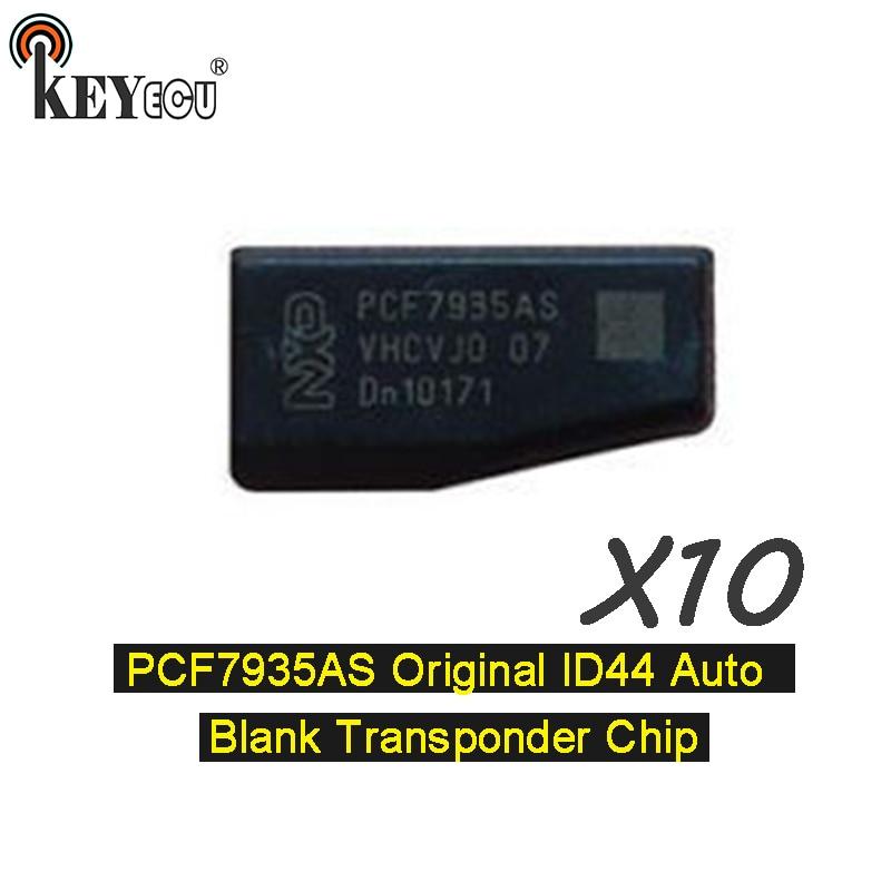 KEYECU 10x PCF7935AA оригинальный идентификатор id 44 пустой чип транспондера для Авто Автомобильный ключ карбоновый чип (PCF7935AS обновленная версия)