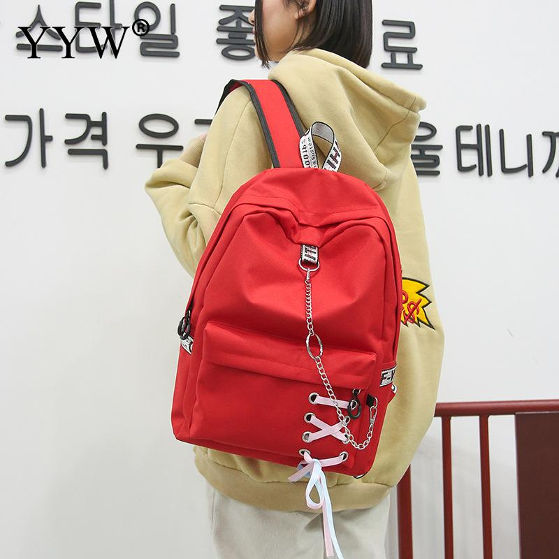 YYW Oxford Concise Schoolbag For Woman Casual Backpack 2018 New Famous Fashion Waterproof Letter Large Capacity Backpack ZipperYYW Oxford Concise Schoolbag For Woman Casual Backpack 2018 New Famous Fashion Waterproof Letter Large Capacity Backpack Zipper