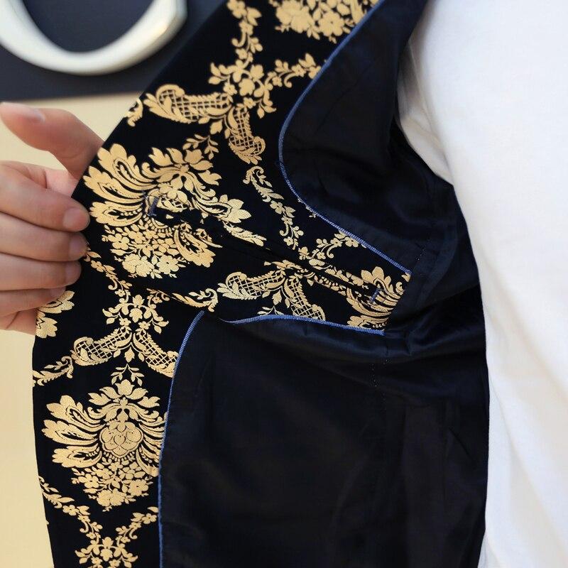 lujo vestido traje hombre 2015 Paleto en chaqueta para trajes de Masculino de oro de de baile época hombres Prom real barroco negro Blazer blanca Terno PH1qgnPrx