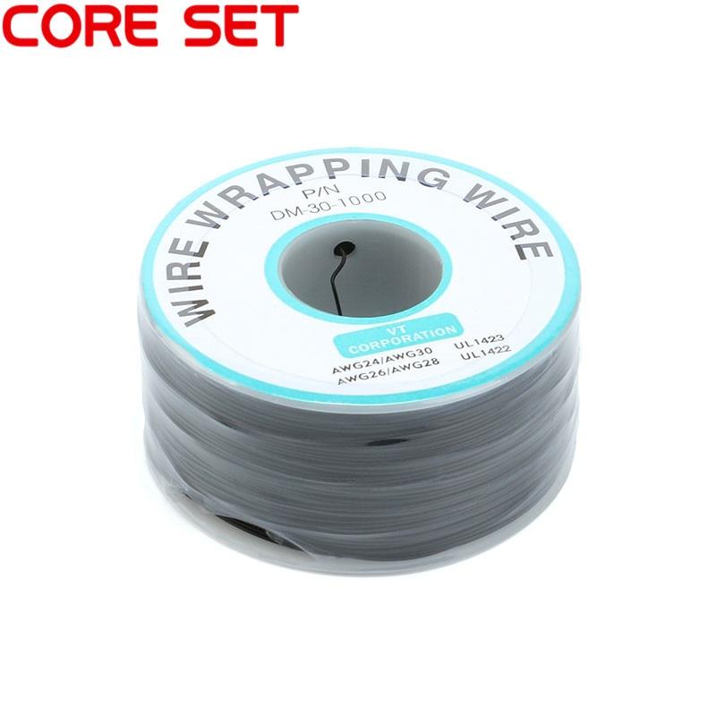 250 м/лот 30 AWG оберточный провод 10 цветов одножильный медный кабель Ok провод электрический провод для ноутбука Материнская плата PCB припой - Цвет: Black