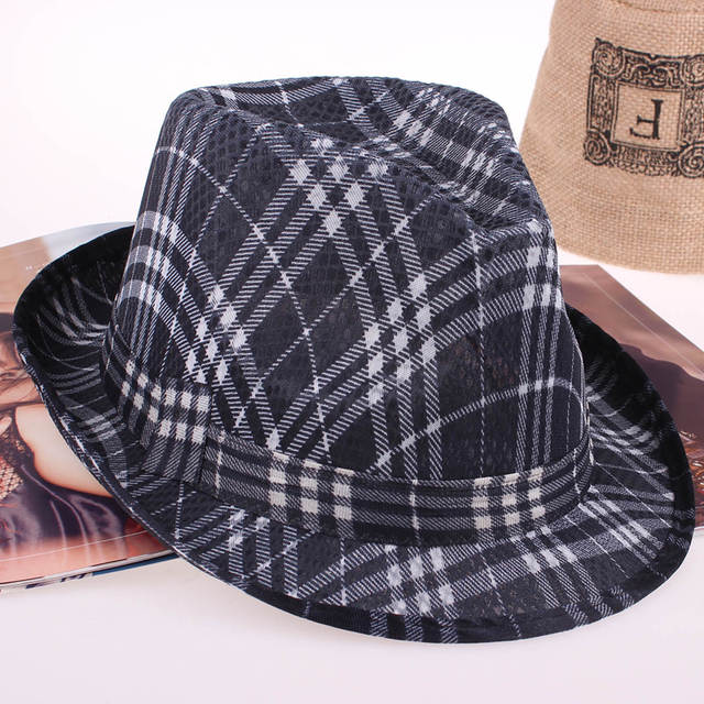 893b8e70 striped Cheap Summer short brim Panama Fedora Hats Jazz Borsalino Hat Beach  Sunhat Waterproof fast Dry Cap for men women-in Men's Fedoras from Apparel  ...