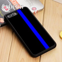 LvheCn THIN BLUE LINE Police Phone Case Cover For iPhone 5 5s SE 6 6s 7 8 10 X Samsung Galaxy S6 S7 edge S8 S9 plus note 8(China)