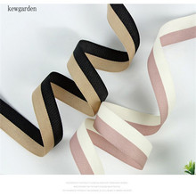 Kewgarden Handmade Tape Ribbons 1.5 38mm 1 25mm 16mm DIY Bow tie Brooch Cotton Satin Ribbon Accessories Packing Riband 20 Yard kewgarden handmade tape 1 1 2 38mm thick soft cotton fabric satin ribbon diy bow tie brooch ribbons double face riband 8 meter