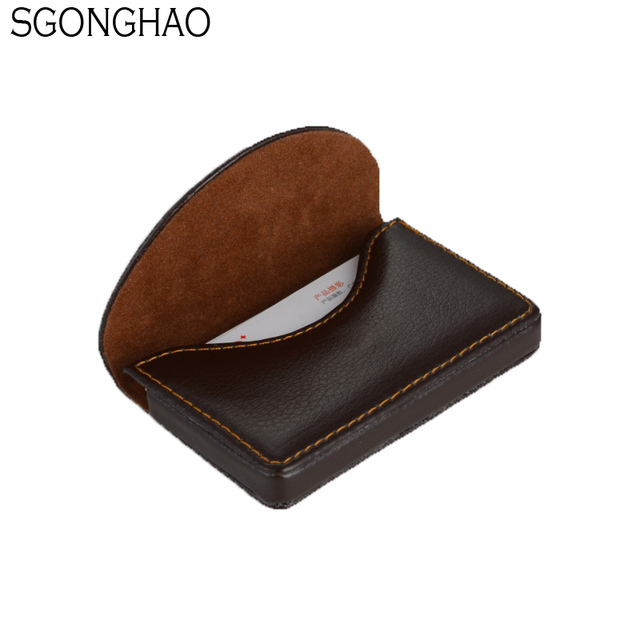 Pocket leather card case exquisite magnetic attractive name card pocket leather card case exquisite magnetic attractive name card case business card box holder reheart Image collections