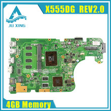 Original X555Y X555YI Motherboard For Asus X555DG rev2.0 Mainboard With Processor 100% tested + 90 Warranty days