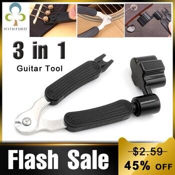 3 w 1 narzędzie do gitary Peg String Winder + ściągacz do sznurka + przecinak do strun zestaw narzędzi do gitary wielofunkcyjne akcesoria gitarowe GYH