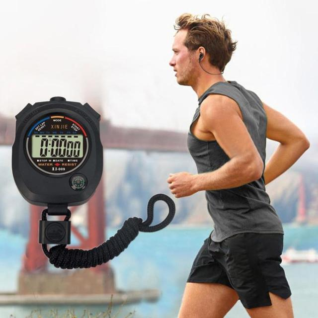 Moda 2019 Explosivo Horloge LCD Esportes Cronômetro Digital Cronógrafo Temporizador Contador de Alarme À Prova D' Água Esportes Relógios 30 P