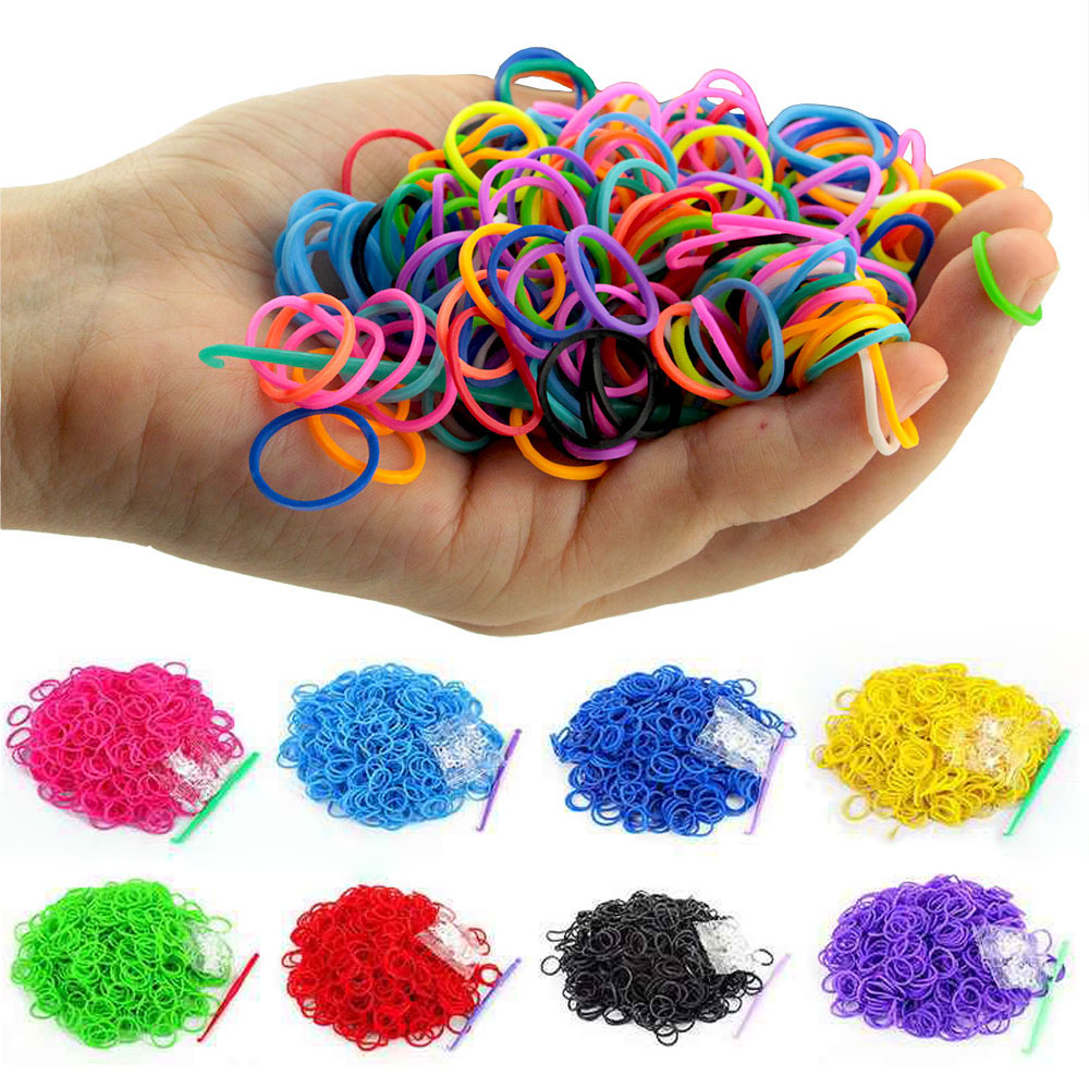 600pcs Diy Toys Rubber Bands Bracelet for Kids Hair Rubber Loom Bands Refill Rubber Band Make Woven Bracelet Multi Outdoor Tools600pcs Diy Toys Rubber Bands Bracelet for Kids Hair Rubber Loom Bands Refill Rubber Band Make Woven Bracelet Multi Outdoor Tools
