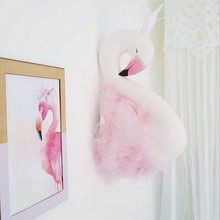 3D Wall Hanging Decorations Cute Flamingo Stuffed Dolls Swine Doll Children Bedroom Wall Hanging Weddings Birthday