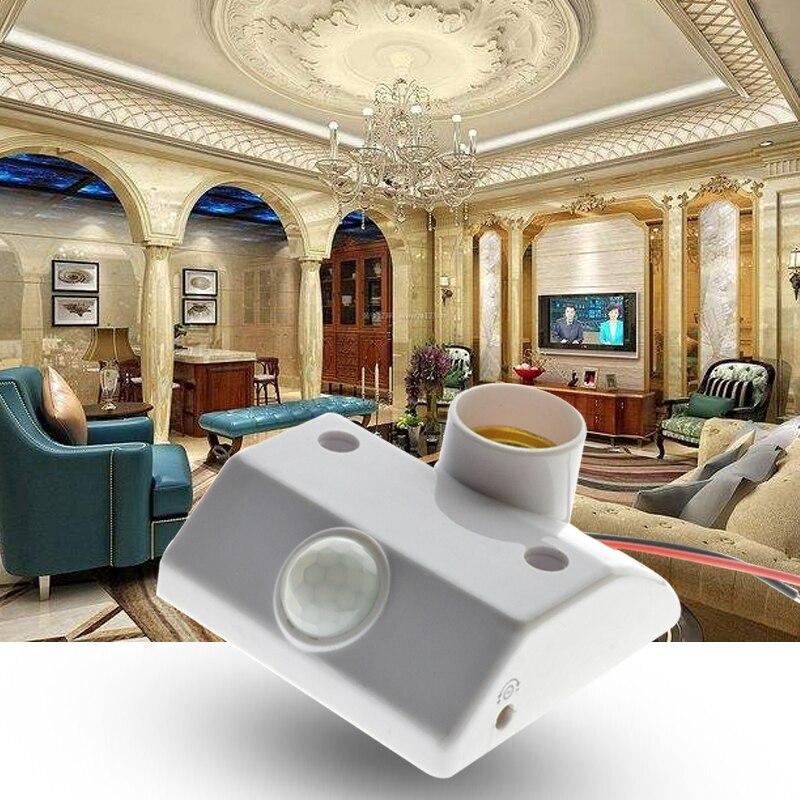 E27 PIR Infrared Motion Sensor LED Light Lamp Holder LED Lamp Base PIR Motion Sensor Switch Light Holder Socket