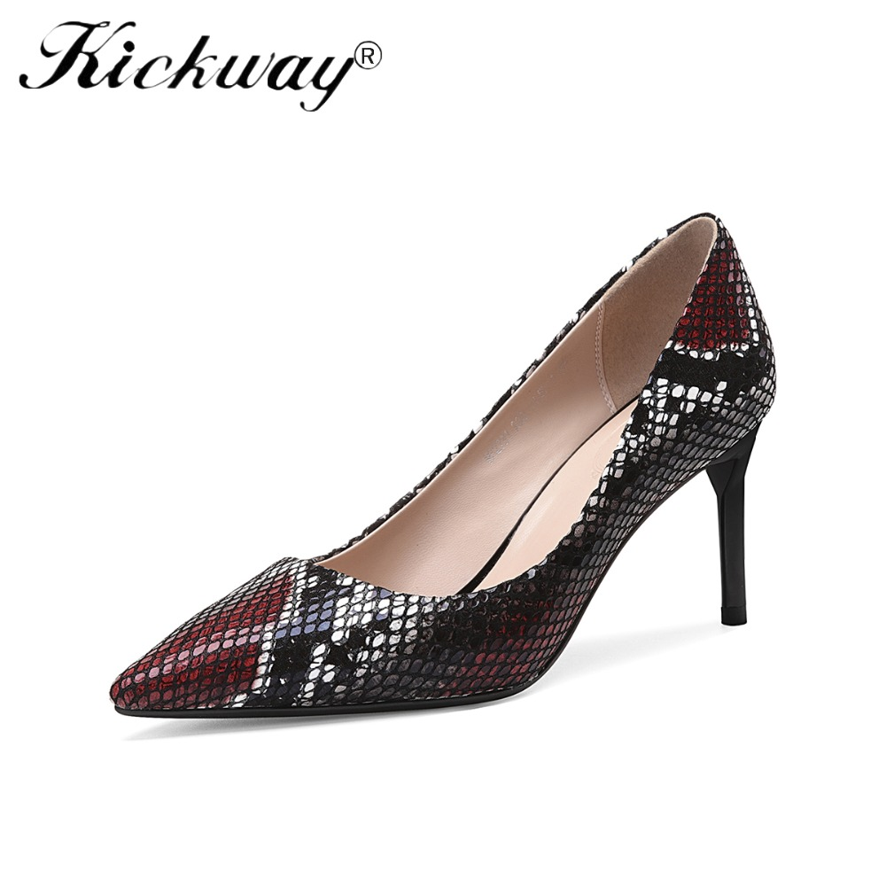 2abd6c340fb3c US $42.64 40% OFF|2019 New Sexy Pointed High heeled Shoes Snake Pattern  Women with Nightclub Shoes Stiletto Black Red Ladies Shoes Wedding Shoes-in  ...