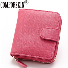 New Arrival High Quality 100% Cowhide Leather Large Capacity Practical  Genuine Women Wallet 4 Color