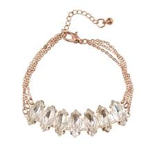 العصرية اليدوية أساور كريستال أساور للنساء الأزياء والمجوهرات الملحقات سلسلة الشهيرة ماركة المجوهرات