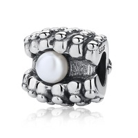 One Of A Kind With Pearl 100 925 Sterling Silver Charm Beads Fits Pandora European Charms