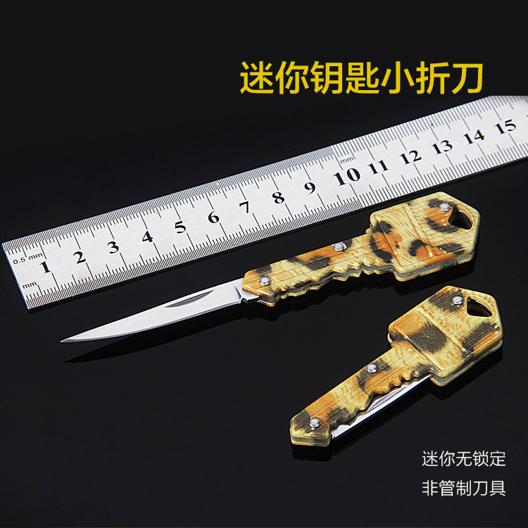 Yangjiang Mini Key knife portable folding knife outdoor multifunctional fruit knife stainless steel cutting tool hidden carry