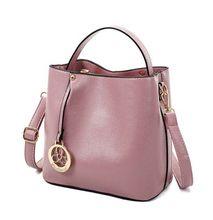 2016 erste schicht des echten leders handtasche der frauen allgleiches eimer tasche damenhandtaschen umhängetasche mode tasche